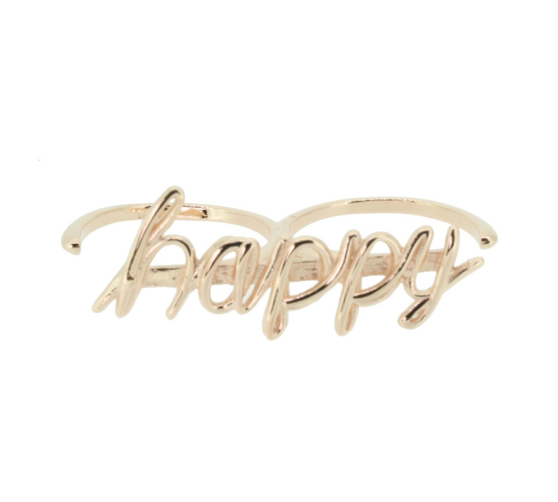 SilverArt Collection Ring Happy SR003-RG Silber rhodiniert rosegold