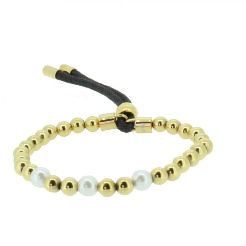 Grey Armband 107486 GAB012 Gold Edelstahl gold weiss