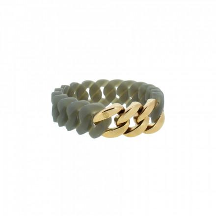 HANSE-KLUNKER MINI Damen Armband 107965 Edelstahl grau rosegold