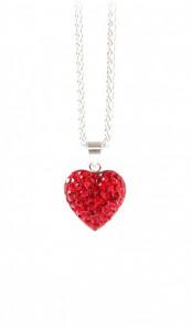 Crystal Line Anhänger TPAH117SW Herz Silber rot