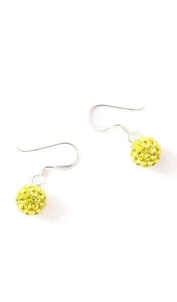 Crystal Line Ohrhänger TPOR106SW Kugel klein Silber gelb