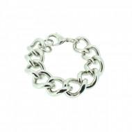 HANSE-KLUNKER METAL CURVE Damen Armband 107732 Edelstahl 316L silber