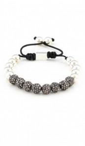 MARC SWAN Armband Shamballa Style 100113 silber grau