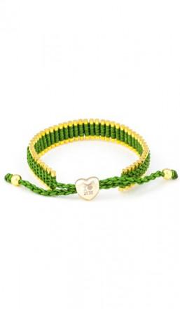 I Love Hamburg Armband 106414 Herz grün gold