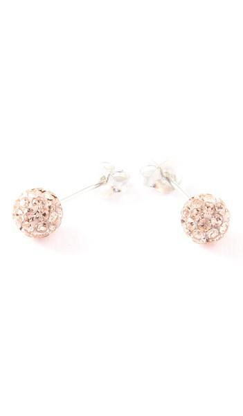 Crystal Line Ohrstecker TPOR102SW Kugel klein Silber rose