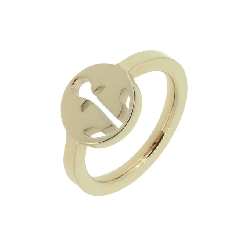 HAFEN-KLUNKER Glamour Collection Ring Anker ausgestanzt 110522 Edelstahl Rosegold