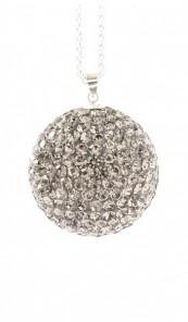Crystal Line Anhänger TPAH110SW Kugel groß Silber grau