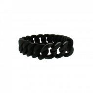 HANSE-KLUNKER MINI Damen Armband 107964 Edelstahl schwarz schwarz matt