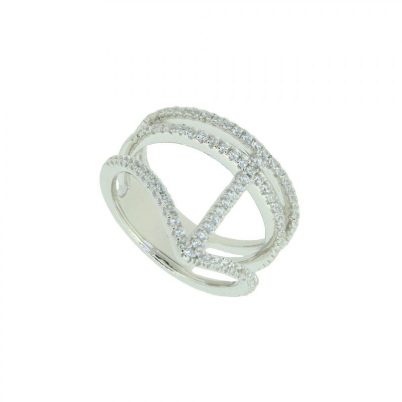 LOVELY SILVER Ring 107637 Silber 925 Zirkonia micro setting silber