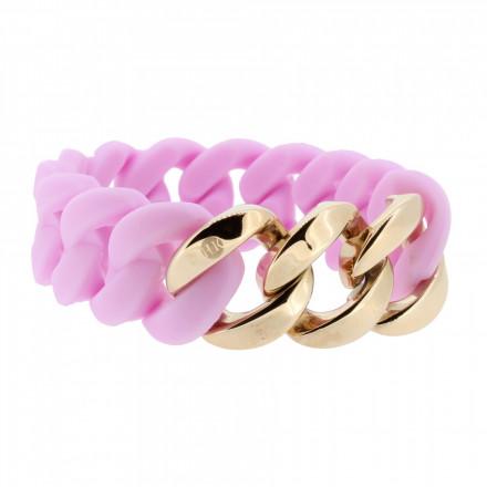HANSE-KLUNKER ORIGINAL Damen Armband 106963 Edelstahl flieder rosegold