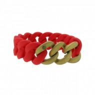 HANSE-KLUNKER ORIGINAL Damen Armband 107781 Edelstahl classic rot gold sandgestrahlt