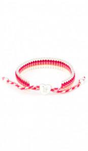 I Love Hamburg Armband 106412 Herz pink weiss