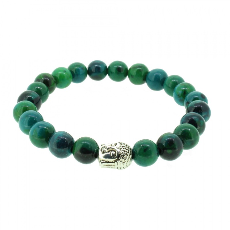 Silverart Buddha Armband 107833 FAB047 Achat grün Metal nickelfrei versilbert