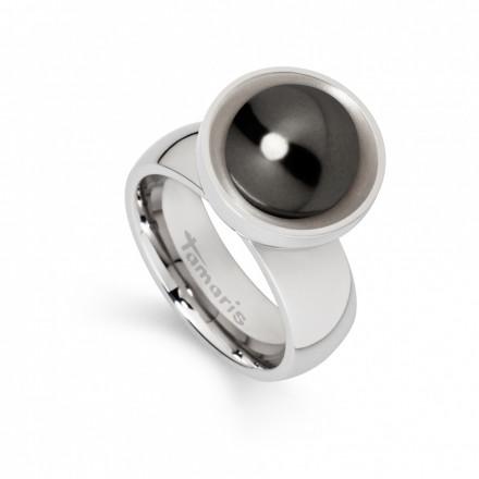 Tamaris Ring Petra 106890 Edelstahl Muschelkernperle silber schwarz