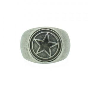 THO Herren Ring Stern 107825 THO-R001 Edelstahl silber 97deb96f84