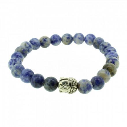 Silverart Buddha Armband 107851 FAB029 Azurit blau Metal nickelfrei versilbert