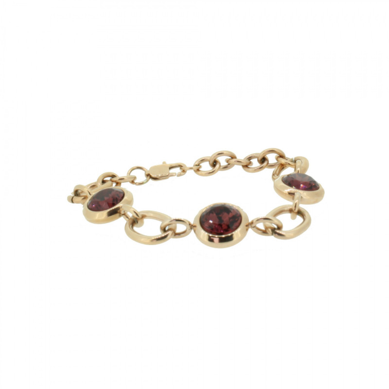 Grey Armband 107495 GAB018 Rose Edelstahl rose rot
