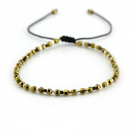 PEARL BAY Perlenarmband 107552 Hämatit gold schwarz