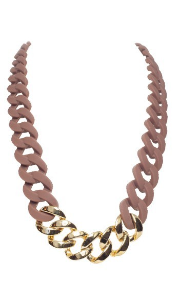 HANSE-KLUNKER Damen Kette 107086 Edelstahl braun gold