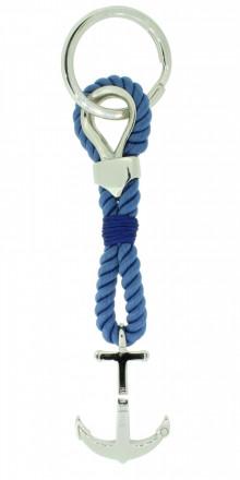 HAFEN-KLUNKER Sailor Collection Schlüsselanhänger Anker 108069 Textil Edelstahl blau silber