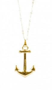 HAFEN-KLUNKER Halskette Anker 107646 Edelstahl gold