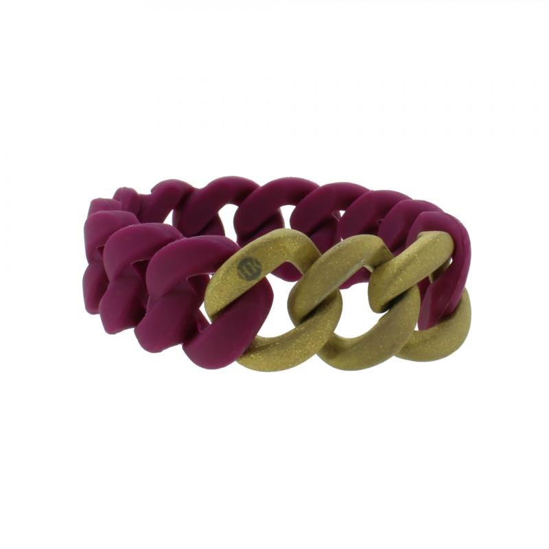 HANSE-KLUNKER ORIGINAL Damen Armband 107778 Edelstahl aubergine gold sandgestrahlt