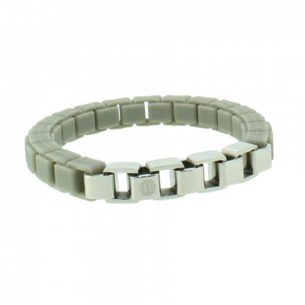 HANSE-KLUNKER FASHION Damen Armband 107996 Edelstahl kieselgrau silber