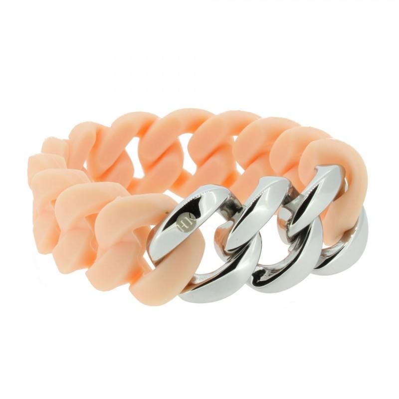 HANSE-KLUNKER ORIGINAL Damen Armband 107032 Edelstahl rosenude silber