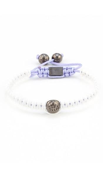 MARC SWAN Armband Shamballa Style 106479 weiss lila