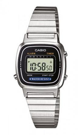 CASIO Retro Digitaluhr LA670WEA-1EF silber schwarz