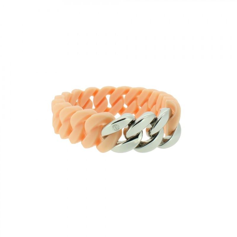 HANSE-KLUNKER MINI Damen Armband 107971 Edelstahl rosenude silber