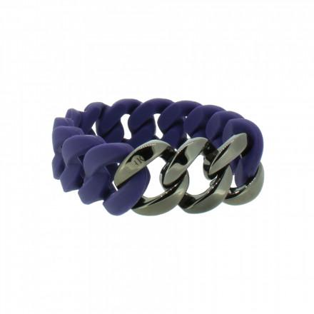 HANSE-KLUNKER ORIGINAL Damen Armband 107924 Edelstahl nachtblau gun metal