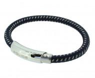 POLICE Herren Armband PJ25137BLN-02-L Edelstahl dunkelblau