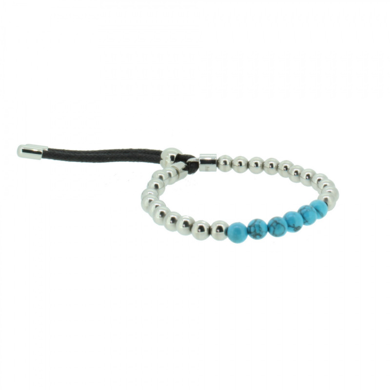Grey Armband 107484 GAB012 Steel Edelstahl silber türkis