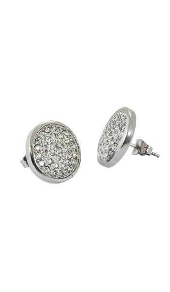 Grey Ohrstecker GOR002 steel Edelstahl Kristall silber