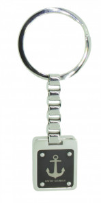 HAFEN-KLUNKER Schlüsselanhänger limited Edition Anker 108122 Edelstahl silber schwarz