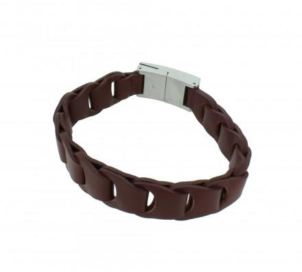 POLICE Herren Armband PJ23364BLC-01-L Leder braun