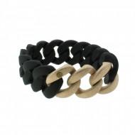 HANSE-KLUNKER ORIGINAL Damen Armband 107920 Edelstahl schwarz rosegold sandgestrahlt