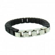 HANSE-KLUNKER FASHION Damen Armband 107993 Edelstahl schwarz silber
