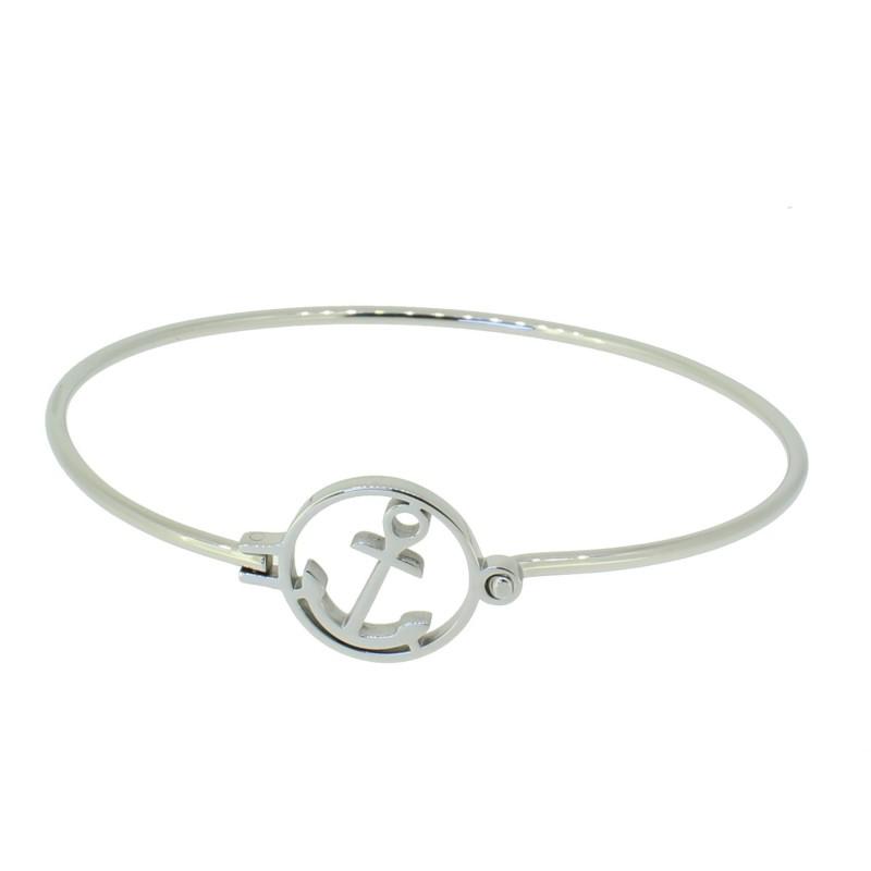 HAFEN-KLUNKER Glamour Collection Armreif Anker Florenz 110514 Edelstahl Silber
