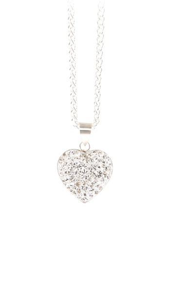 Crystal Line Anhänger TPAH117SW Herz Silber weiss