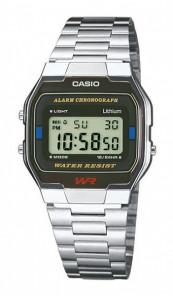 CASIO Retro Digitaluhr A163WA-1QES silber schwarz
