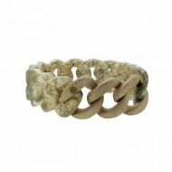 HANSE-KLUNKER ORIGINAL Damen Armband 107789 Edelstahl stone rosegold sandgestrahlt
