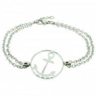 HAFEN-KLUNKER Glamour Collection Anker Armband 108031 Edelstahl rund silber