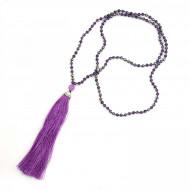 PEARL BAY Damen Perlenkette 107595 Quaste Kristall lila
