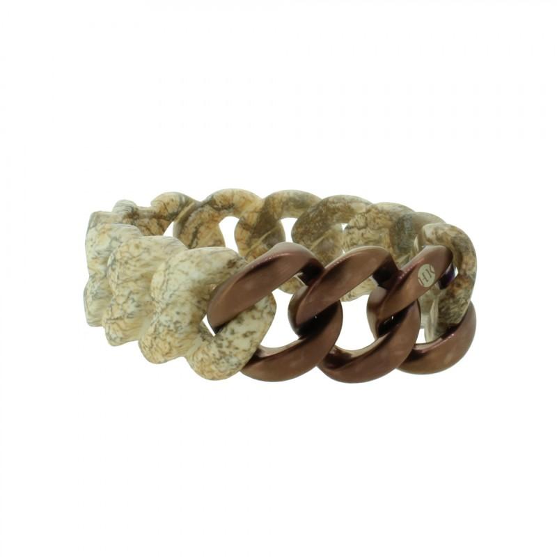 HANSE-KLUNKER ORIGINAL Damen Armband 107788 Edelstahl stone bronze matt