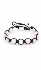 MARC SWAN Armband Shamballa Style 106440 rosa silber