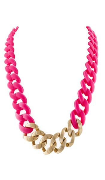 HANSE-KLUNKER Damen Kette 107464 Edelstahl pink gold matt