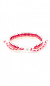 I Love Berlin Armband 106421 Herz pink weiss