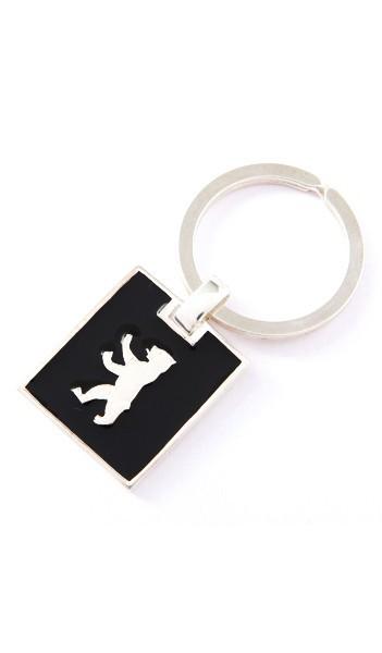 Berlin Schmuck Schlüsselanhänger TPSH002BER Silber schwarz
